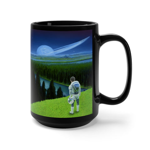 Happy Little Astronaut - Black Mug 15oz