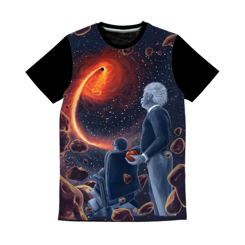 A Sky Full of Ghosts - All Over Print T-Shirt with Black Panels