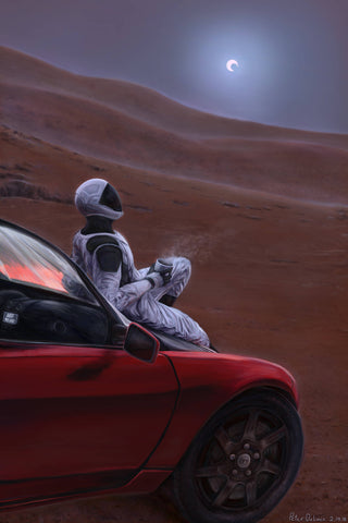 "Red Car on the Red Planet (8""x10"")- Signed Print"