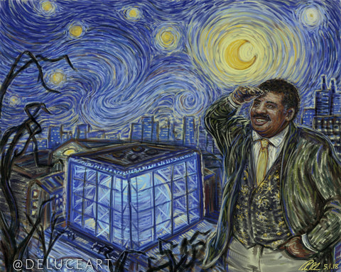 "Starry Neil and the Hayden Planetarium (8"" x 10"") Signed Print"
