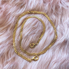 Gold WIDE Curb Link Mask Chain