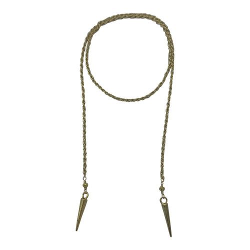 Gold Dagger Rope Chain Necklace + Bracelet (Short Length)