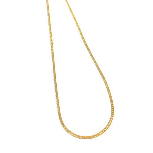 Thin Herringbone Chain Slider Necklace & Choker