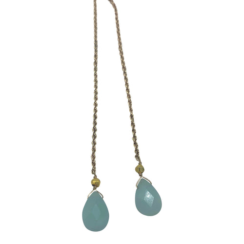 Amazonite Rope Chain Necklace + Bracelet (Short Length)