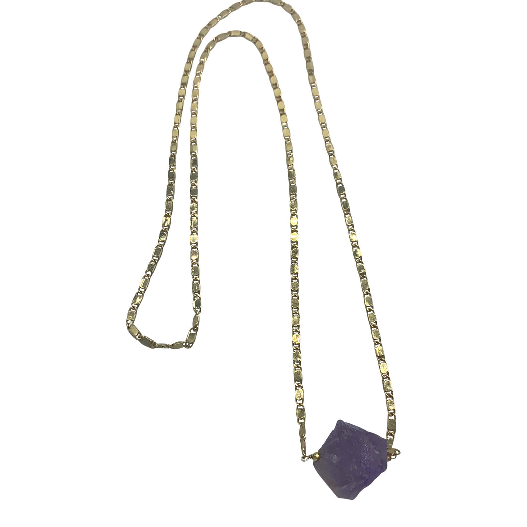 Raw Amethyst Long Layering Necklace