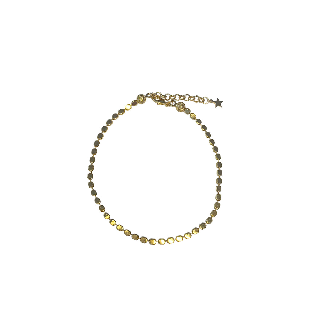 Shimmery Dot Chain Anklet