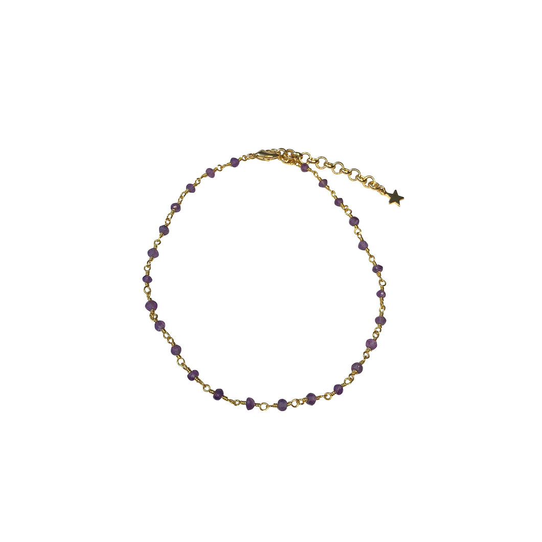 Beaded Gemstone Chain Anklet