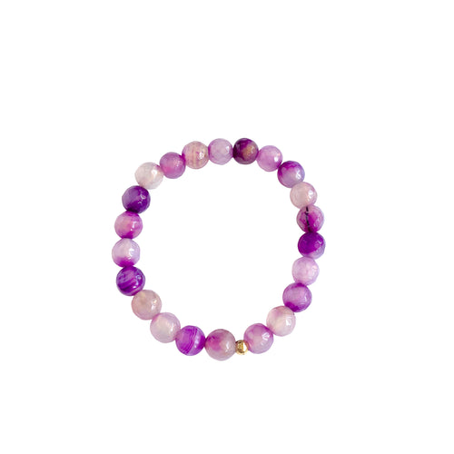Tie Dye Fire Agate Stretch Bracelet