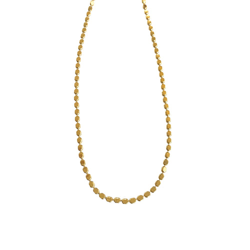 Shimmery Dot Chain Slider Necklace