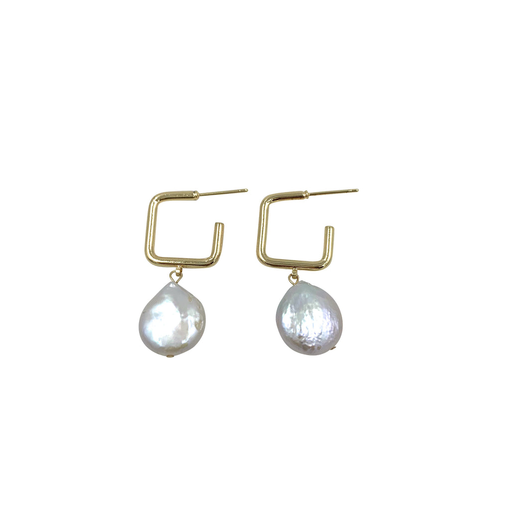 Pearl Square Hoops