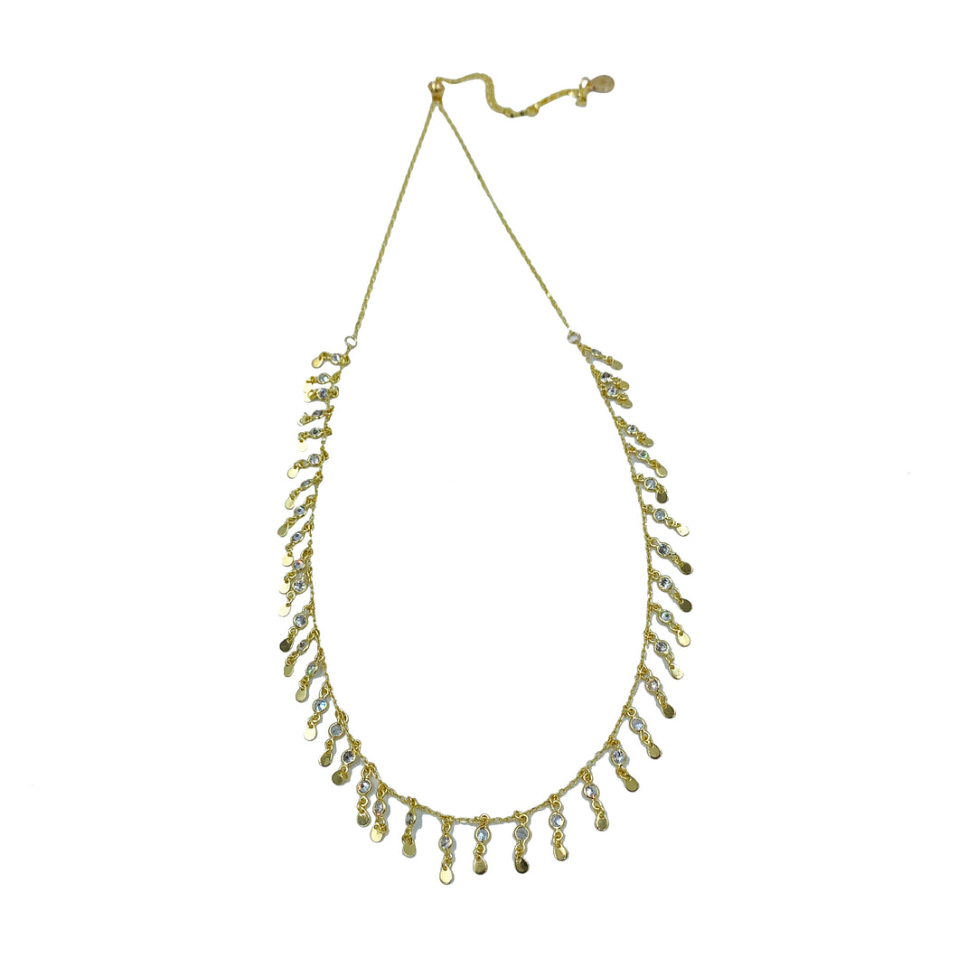 Crystal Fringe Adjustable Slider Necklace + Choker