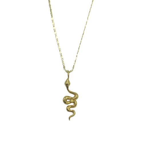 Gold Snake Adjustable Slider Necklace + Choker