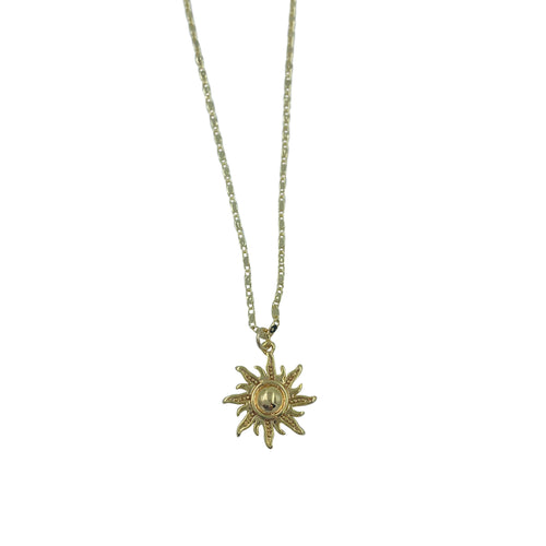 Gold Sun Adjustable Necklace + Choker