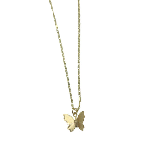Gold Butterfly Adjustable Necklace + Choker