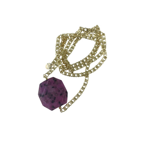 Sugilite Filigree Chain Necklace + Bracelet