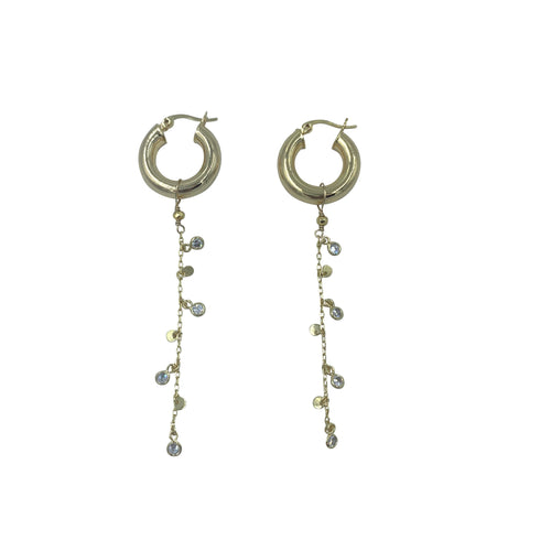 Sparkle Dangle Small Hoops
