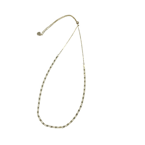Gold Mediterranean Link Chain Adjustable Slider Necklace + Choker