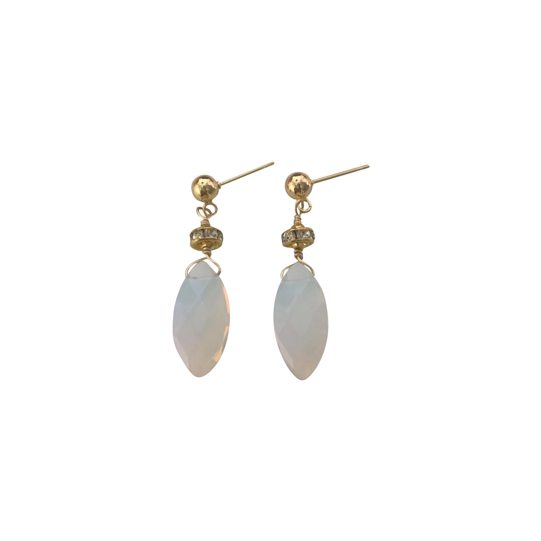 Opalite Sparkly Gemstone Drop Earrings
