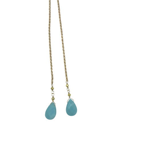 Amazonite Rope Chain Necklace + Bracelet (Long Length)