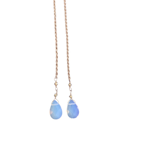 Opalite Rope Chain Necklace + Bracelet (Long Length)