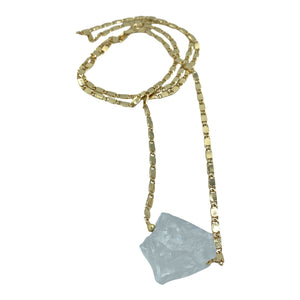 Raw Clear Quartz Long Layering Necklace