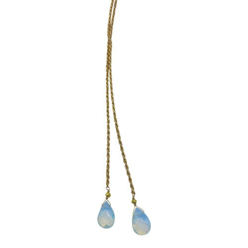 Opalite Rope Chain Necklace + Bracelet (Short Length)