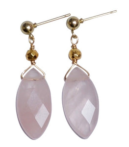 Rose Quartz Santa Monica Earrings