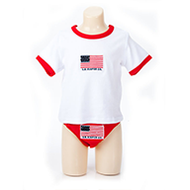 Egyptian Comb Cotton Diaper/T-shirt Combo - Red