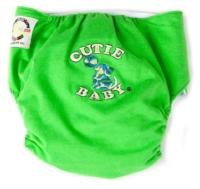Egyptian Comb Cotton Snap Diapers - Green