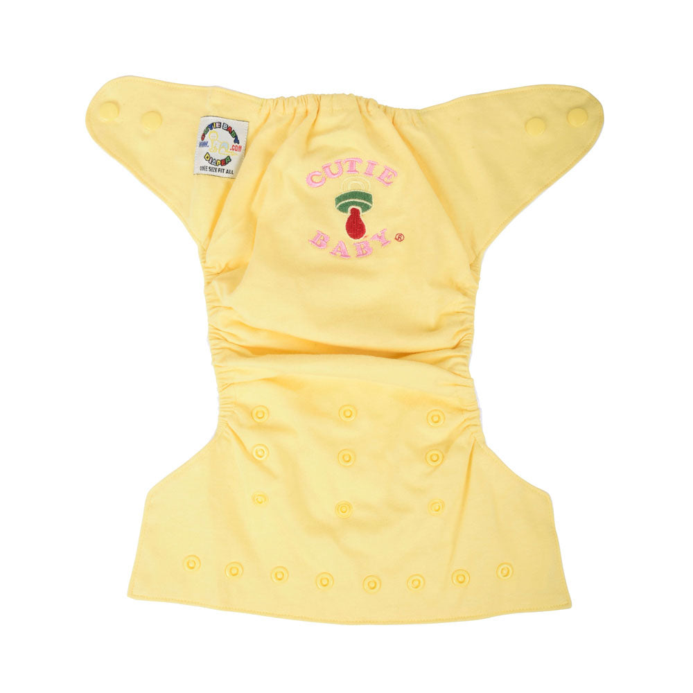 Egyptian Comb Cotton Snap Diapers - Yellow