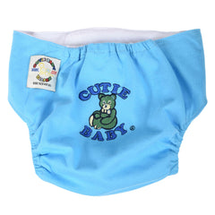 Egyptian Comb Cotton Snap Diapers - Light Blue