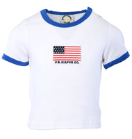 Egyptian Comb Cotton Diaper/T-shirt Combo - Blue