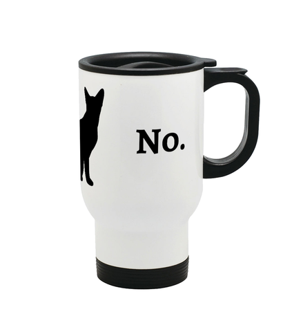 'No.' Stainless Steel Travel Mug - squishbeans