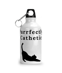 'Purrfectly Cathetic' Aluminium Water Bottle - squishbeans