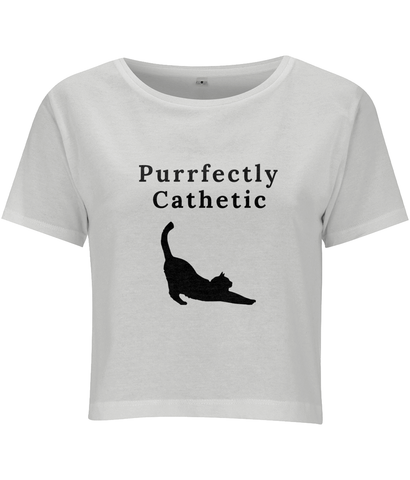 'Purrfectly Cathetic' Cropped Top - squishbeans