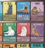 Vintage-Style Cat Metal Sign - Choose Your Breed