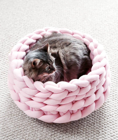 Knitted Cotton Cat Bed - squishbeans