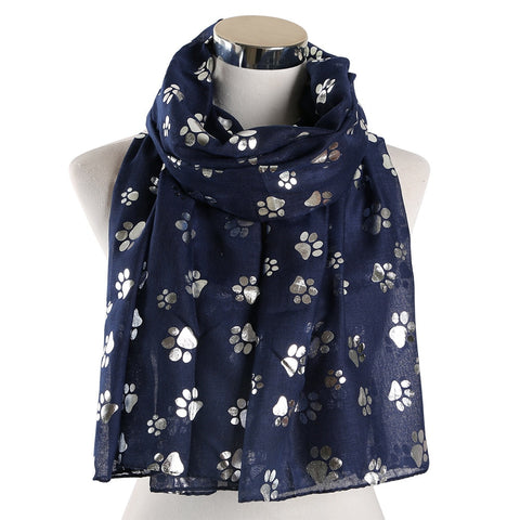 Foil Cat Paw Scarf - Various Colours Available