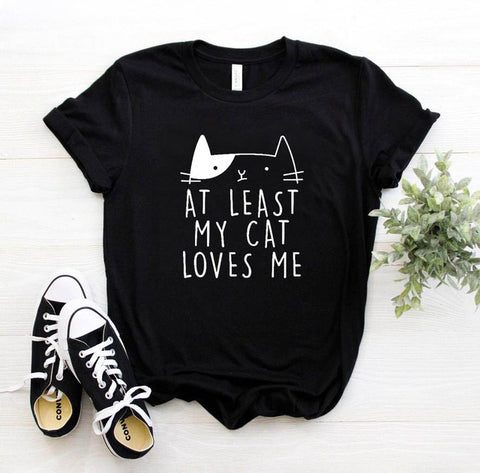 'At Least My Cat Loves Me' T-Shirt - squishbeans