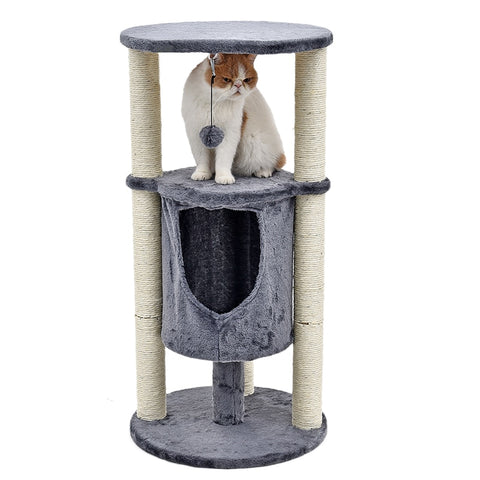 H91cm Cylindrical Cat Scratching Tree - squishbeans