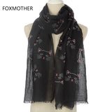 FOXMOTHER Cat Print Scarf - Various Colours Available - squishbeans
