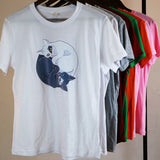 Yin and Yang Cat T-shirt - squishbeans