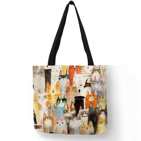 Patterned Eco Linen Tote Bag - 15 Different Styles! - squishbeans