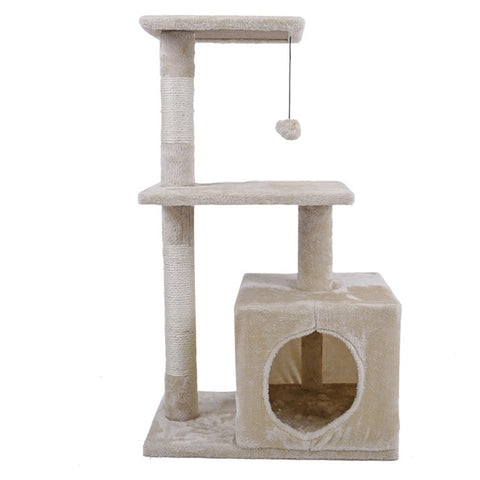 H: 80cm Cat Scratching Condo - Grey or Beige - squishbeans