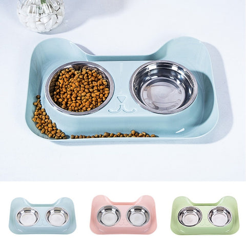 Non-spill & Non-skid Design Elevated Feeder - squishbeans