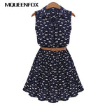 Belted Cat Print Dress - squishbeans