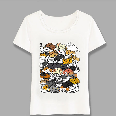 Sleepy Kitties T-Shirt - squishbeans