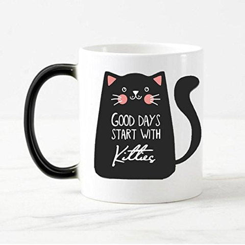 'Good Days Start With Kitties' Heat Changing Mug - squishbeans
