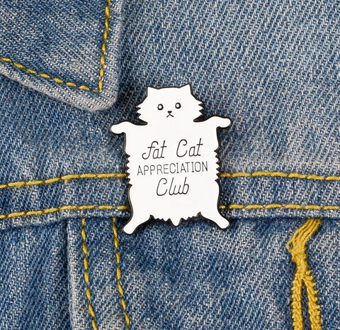 Fat Cat Pin - squishbeans