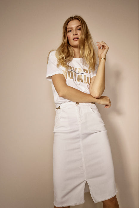 Selma White Skirt